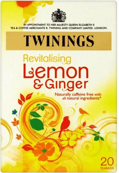 Twinings Wellbeing Blend Lemon & Ginger 30 g x20