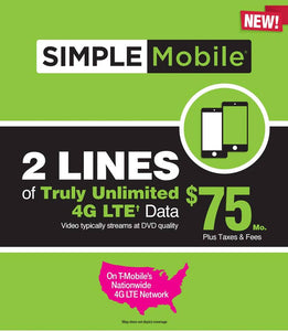 Simple Mobile $75 Plan