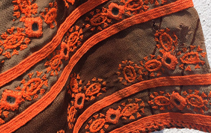 Vintage Balochi dress embroidery detail