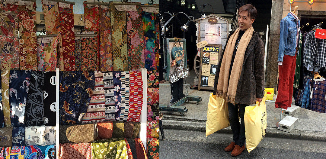 Beautiful Japanese fabrics and Nutti with some of our shopping