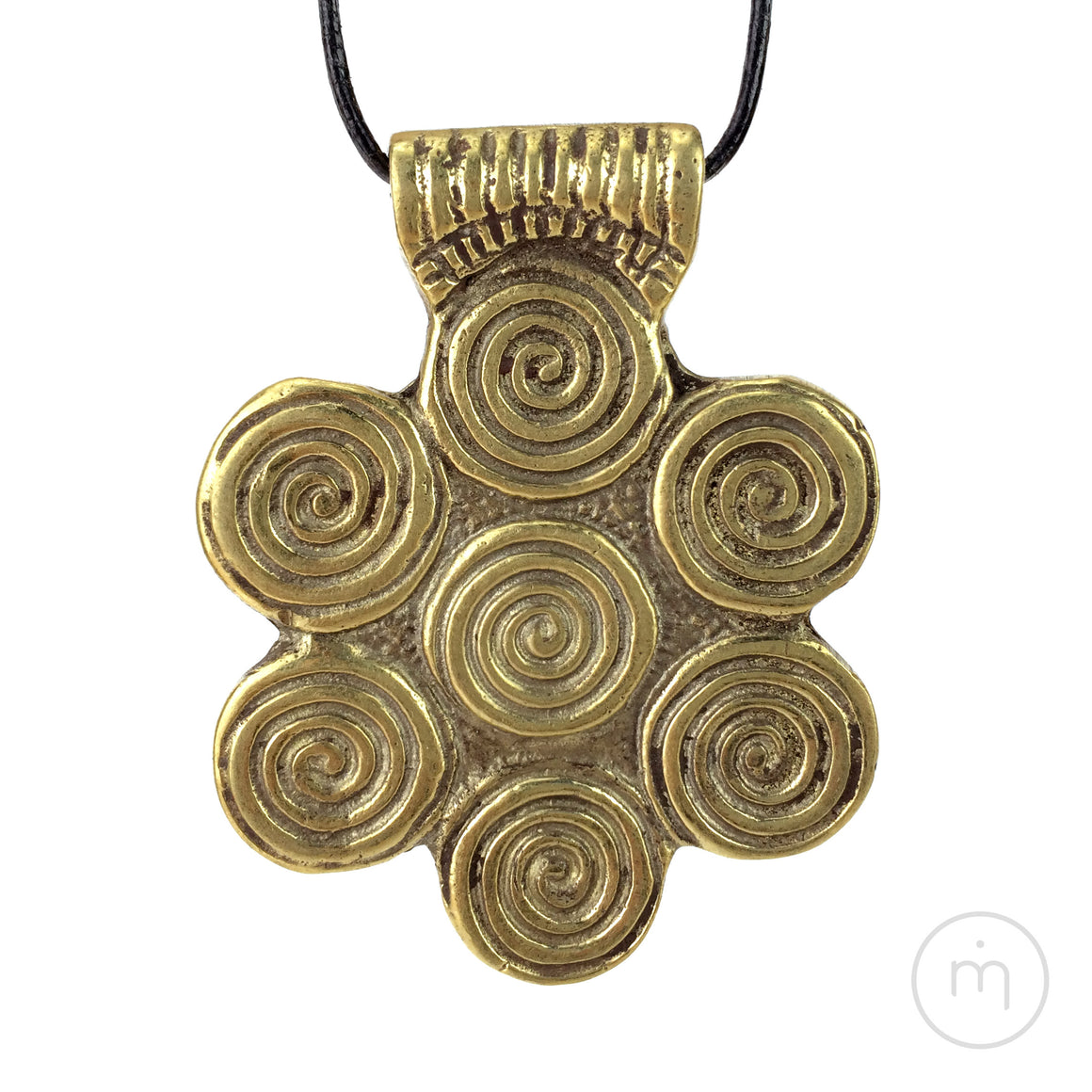 Fairtrade Nepalese 7 Chakras Brass Pendant