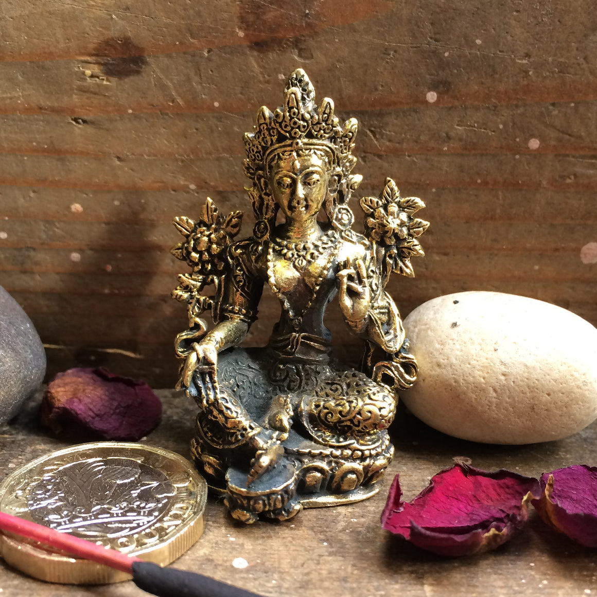 Fairtrade Nepalese Brass Tara Statuette