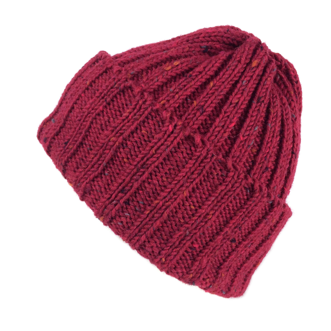 eba1a48f48d Wool Beanie Fisherman s Hat Gift for Him or Her Highland 2000 Chunky Knit  Red Burgundy Unisex ...