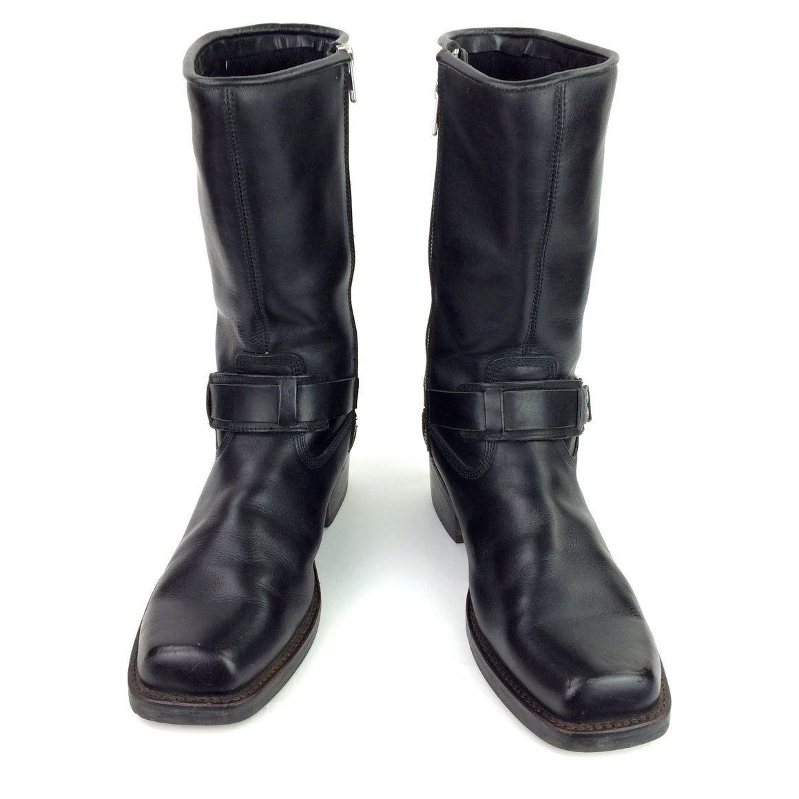 Vintage Durango Square Toe Ring Harness Biker Boots, side view