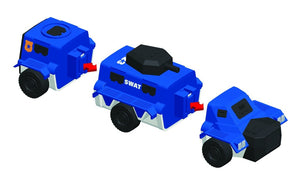 Popular Playthings Mix or Match Vehicles Police 美國Popular Playthings磁石配對拼砌玩具-警察主題