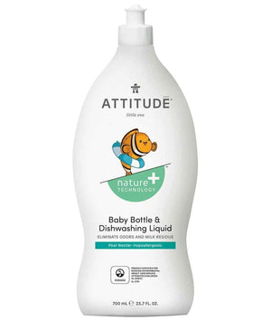 Attitude Canada- Baby Bottle & Dishwashing Liquid- Pear Nectar 700 ml(嬰兒餐具及奶樽清潔液-梨花蜜香味)