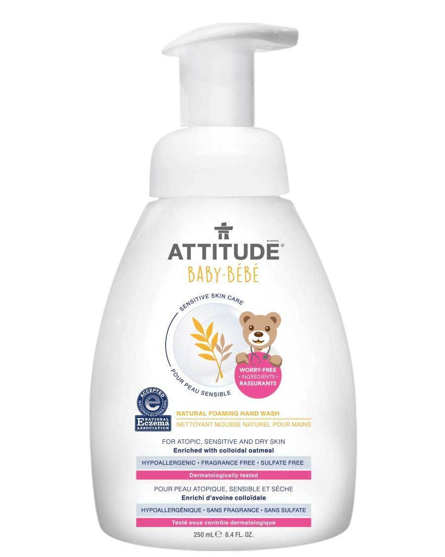 Attitude Canada- Sensitive Skin BABY Foaming Hand Wash 250 ml ( Eczema friendly) (敏感肌嬰兒專用泡泡洗手液)