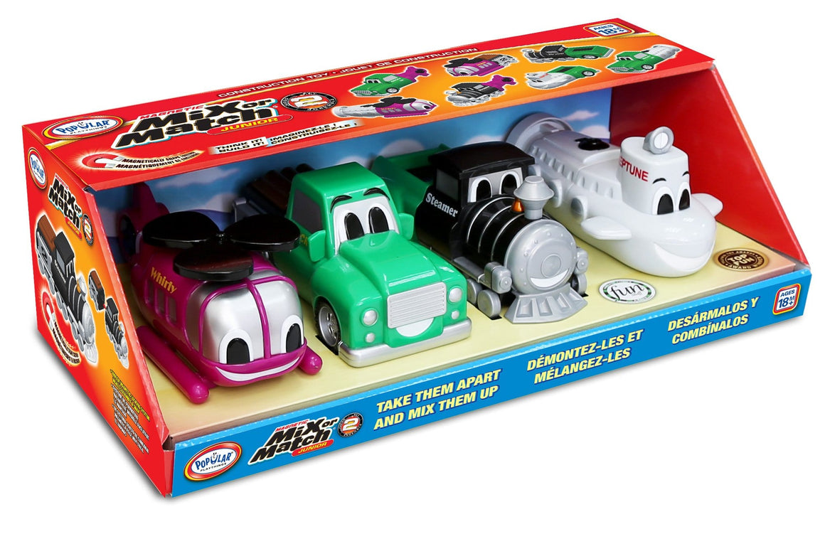Popular Playthings Mix or Match Vehicles Junior 2 美國Popular Playthings磁石配對拼砌玩具-海陸空交通工具