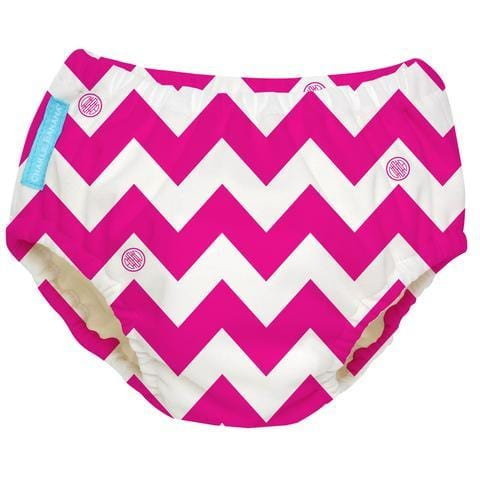 Charlie Banana USA Reusable Swim Diaper Hot Pink Chevron Medium