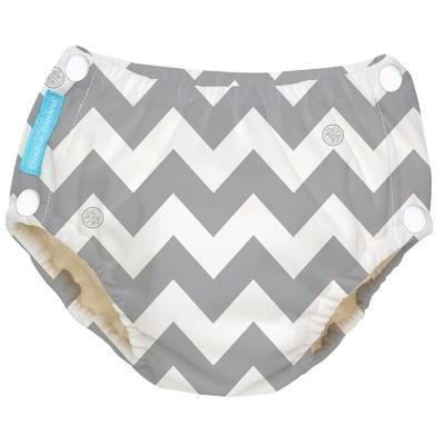 Charlie Banana USA Reusable Easy Snaps Swim Diaper Grey Chevron X-Large