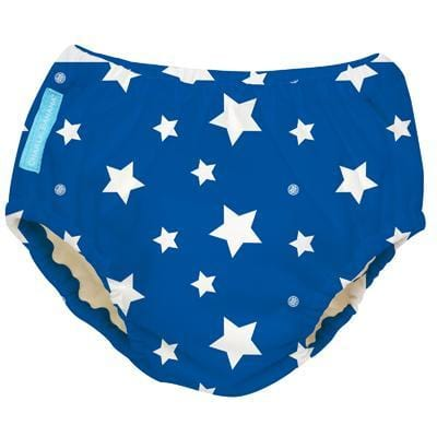 Charlie Banana USA 2-in-1 Swim Diaper & Training Pants White Stars Blue Small