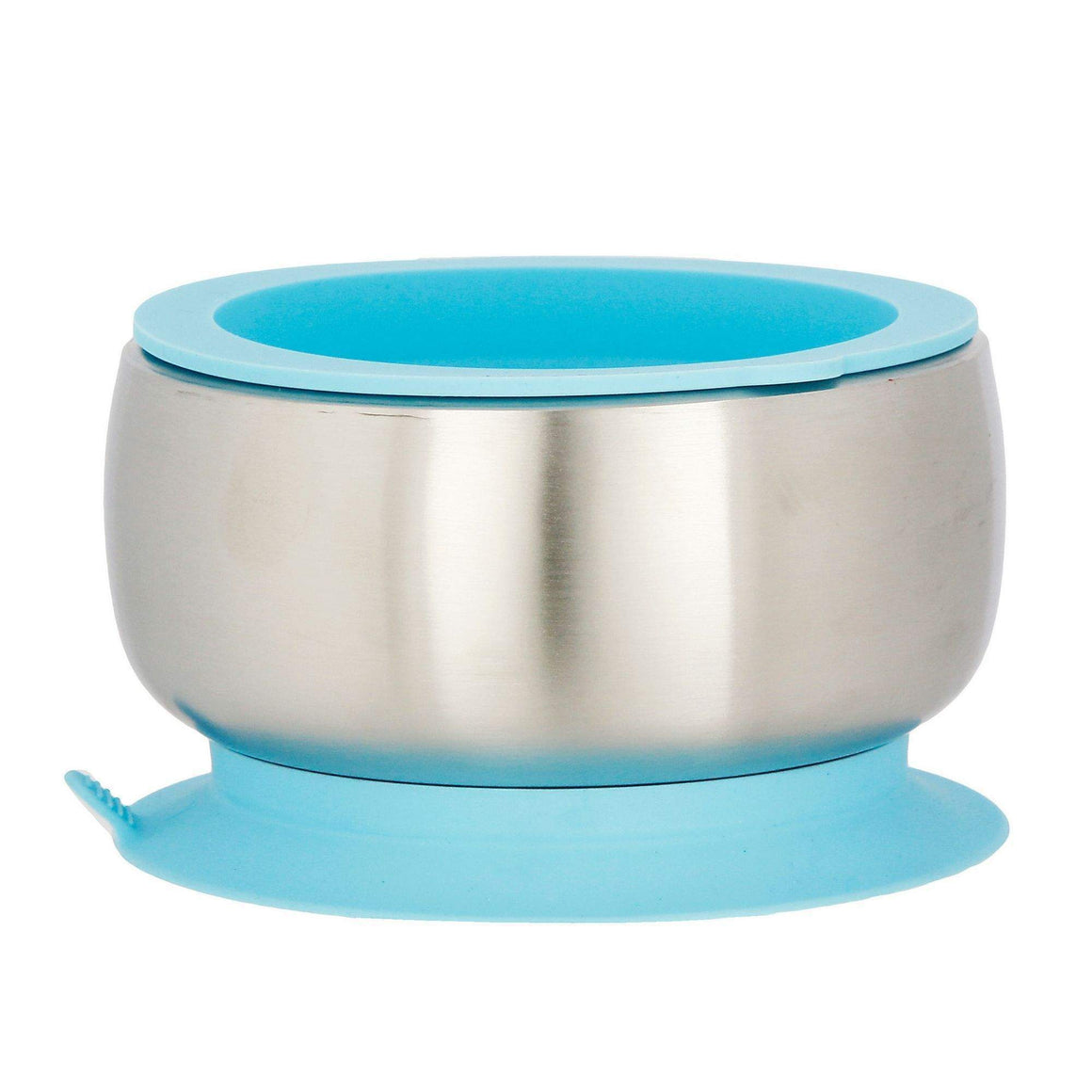Avanchy Stainless Steel Suction Baby Bowl + Air Tight Lid - Blue (不锈鋼碗+蓋-藍色)