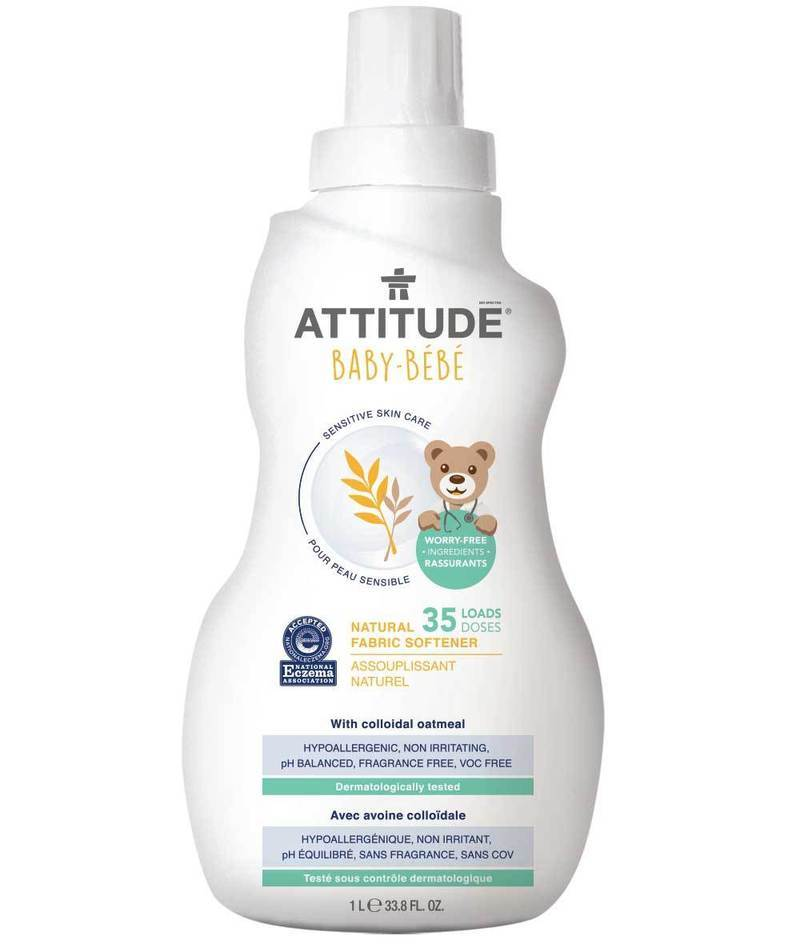 Attitude Canada-Sensitive Skin BABY Fabric Softener (Ezcema Friendly) 1L (敏感肌嬰兒專用衣物柔順劑-濕疹肌膚適用)