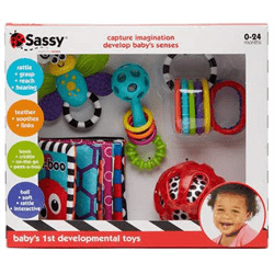 Sassy Baby USA-Baby's 1st Developmental Toy Gift Set