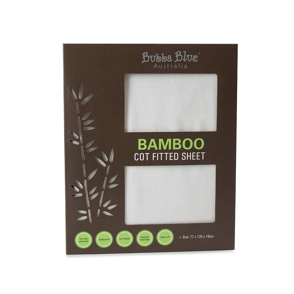Bubba Blue Australia Bamboo White Cot Fitted Sheet (澳洲Bubba Blue 竹纖維床單)