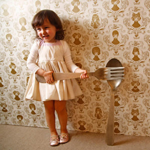 Marl Marl Japan Cream and Pink Apron Bib