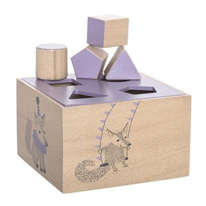 Bloomingville Denmark- Circus Intelligence Box, Purple, Beech 丹麥品牌形狀配對幼兒玩具