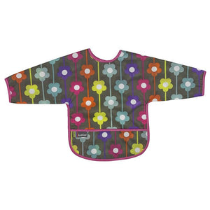 Kushies Canada- Clean Bib with Sleeves- Daisies 加拿大品牌Kushies有袖飯衣/多功能防污圍衣