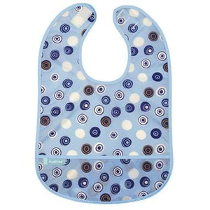 Kushies Canada- Cleanbib | Blue Crazy Circles 加拿大品牌Kushies飯衣/圍兜