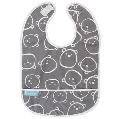 Kushies Canada- Cleanbib | Charcoal Bears 加拿大品牌Kushies飯衣/圍兜