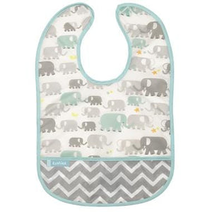 Kushies Canada- Cleanbib | White Elephants 加拿大品牌Kushies飯衣/圍兜