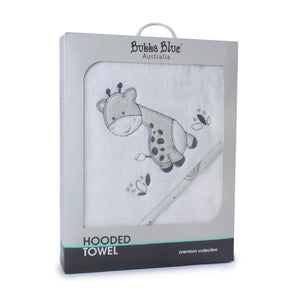 Bubba Blue Australia - Grey Playtime Hooded Towel (澳洲Bubba Blue 童趣長頸鹿系列-連帽浴巾)