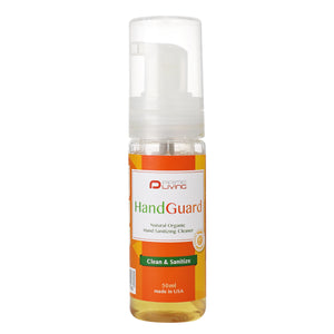 Prime Living- HandGuard- Natural Organic Hand Sanitizing Cleaner 50ml 有機天然免沖洗消毒搓手液(15秒殺菌)