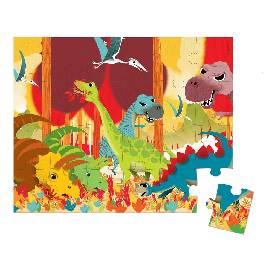 Janod France Hat Boxed 24 Pcs Puzzles (Dinosaur)法國品牌Janod 24片拼圖(恐龍)