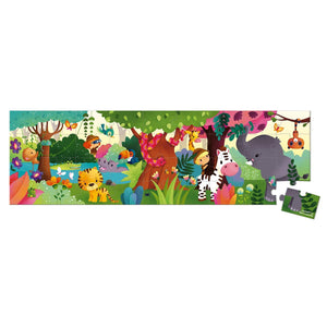 Janod France Hat Boxed 36 Pcs Panoramic Puzzle (Jungle)法國品牌Janod 36片拼圖(熱帶雨林)