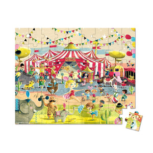 Janod France Hat Boxed 54 Pcs Puzzle ( Circus)法國品牌Janod 54片拼圖(馬戲團)