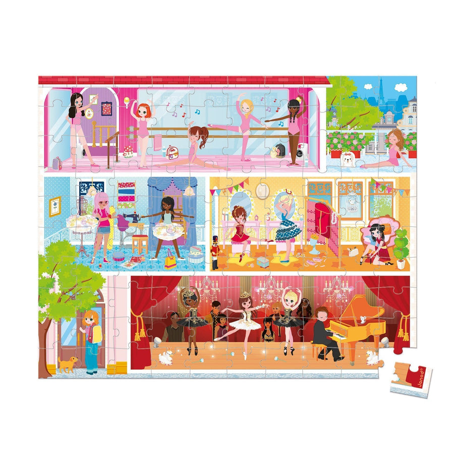 Janod France Hat Boxed 100 Pcs Puzzle(Dance Academy)  法國品牌Janod 100片拼圖(跳舞小朋友)