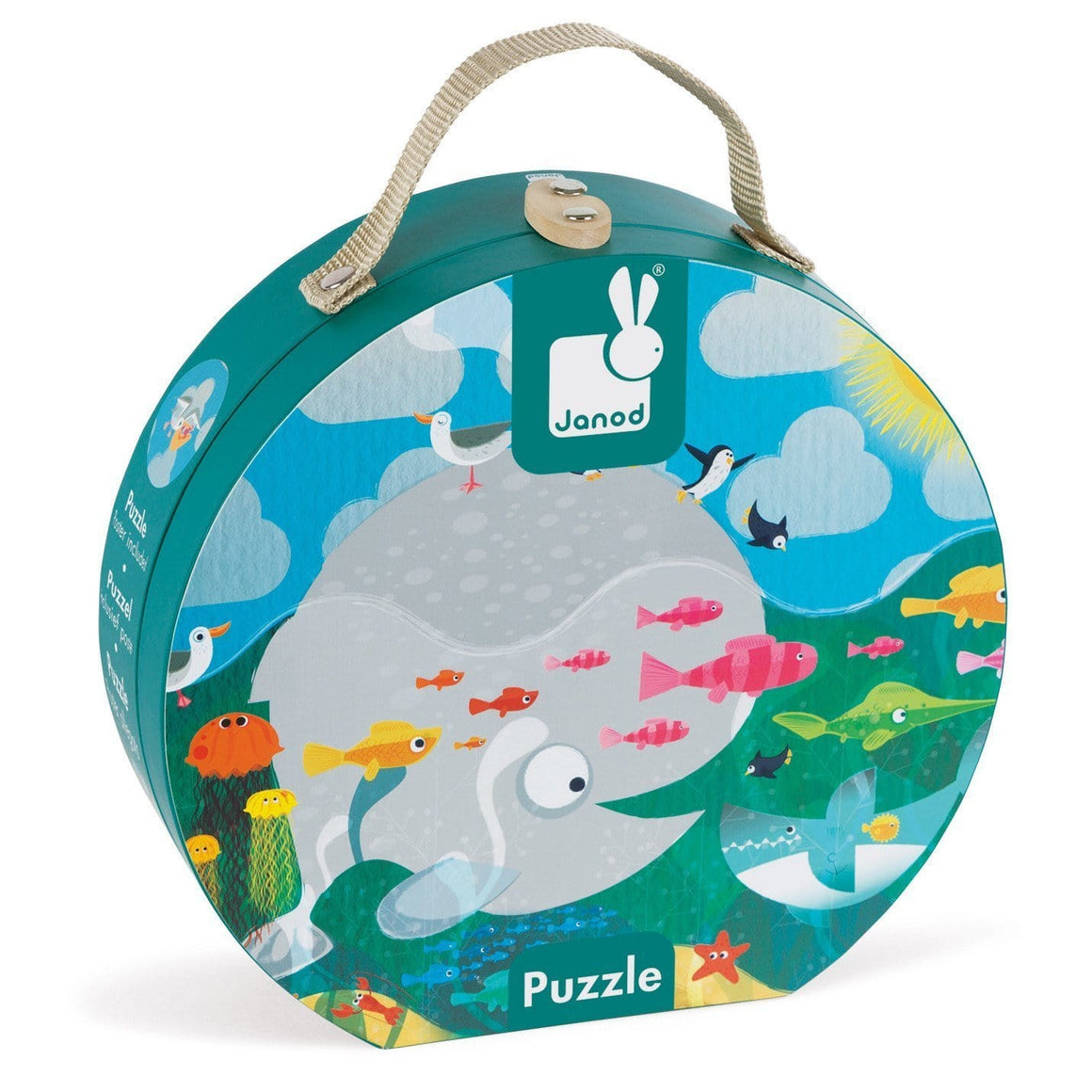 Janod France Hat Boxed 24 Pcs Puzzle (Ocean)法國品牌Janod 24片拼圖(海洋)