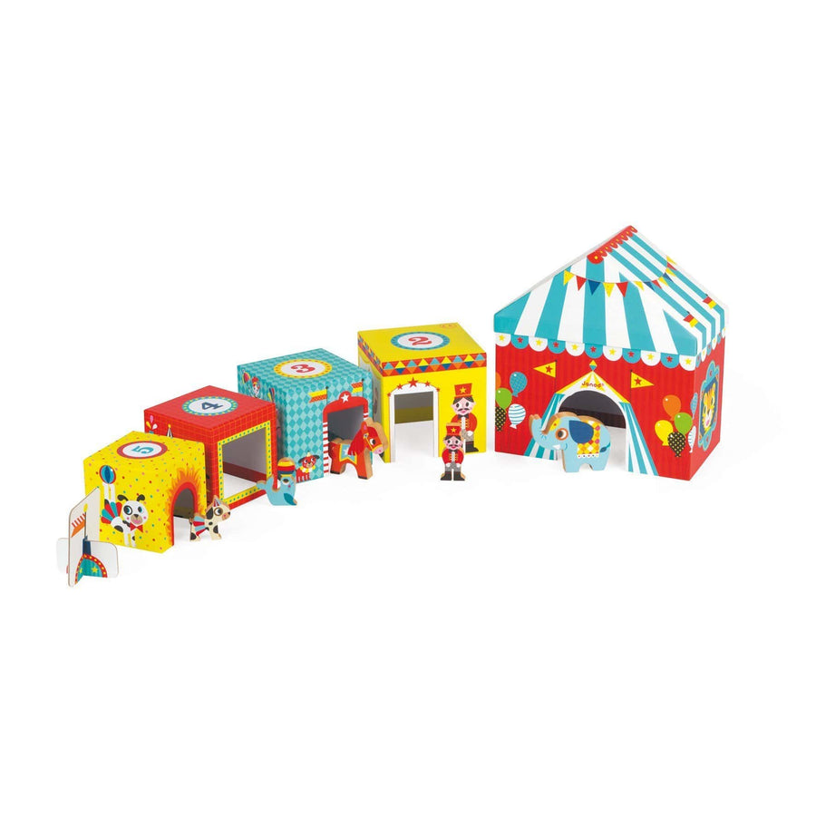 Janod France- MultiKub Circus Stacker with Figures