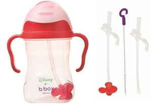 B.BOX Australia- Disney Sippy Cup + Replacement Straw and Cleaning Kit (Minnie) 澳洲B.BOX 兒童學習飲水杯+替換飲管+清潔套裝(迪士尼米妮老鼠)
