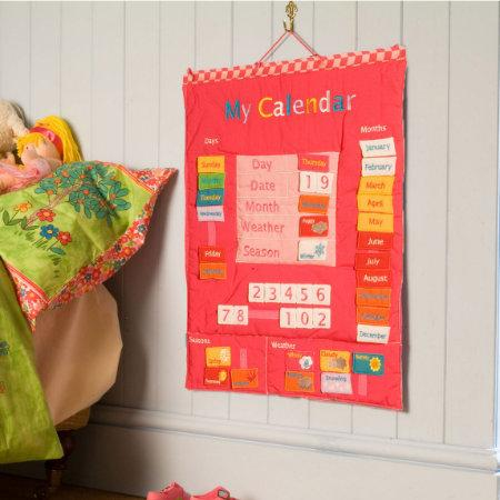 Fiesta Crafts UK- My Calendar-Fabric-Pink (英國Fiesta Crafts我的日曆布料掛飾)
