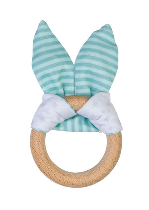 "Saro Baby Madrid- NATURE TOY ""BUNNY"" Teether - Mint 小兔耳咬咬巾"