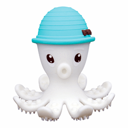 Mombella- Octopus Teether-Powder Blue嬰兒牙膠玩具 (藍色)