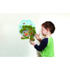 Oribel VertiPlay Wall Toy - Mr. Squirrel's House 貼牆玩具-松鼠之家雙層木質砌圖