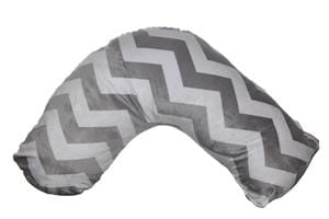 Posh 'n' Plush Nursing Pillow -   Grey/White Chevron