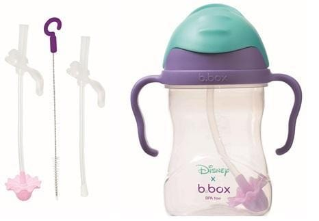 B.BOX Australia- Disney Sippy Cup + Replacement Straw and Cleaning Kit (Ariel) 澳洲B.BOX 兒童學習飲水杯+替換飲管+清潔套裝(迪士尼人魚公主)