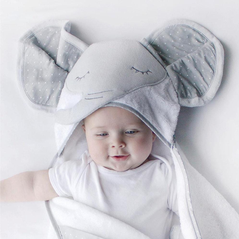 Bubba Blue Australia Petit Elephant Novelty Hooded Bath Towel (澳洲Bubba Blue 休閒大笨象系列-新穎連帽浴巾)