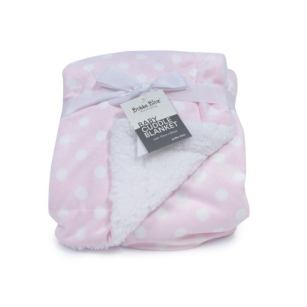 Bubba Blue Australia Pink Polka Dots Reversible Cuddle Blanket (澳洲Bubba Blue 粉紅波點雙面兩用毛毯)
