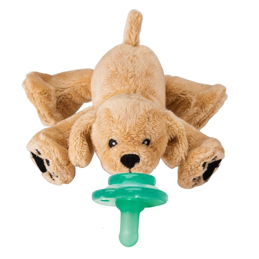 Nookums Paci-Plushies -RUFUS RETRIEVER BUDDIES™ 美國Nookums奶嘴+安撫公仔(小狗)