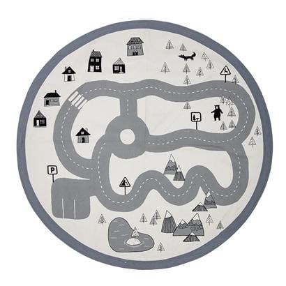 Bloomingville Denmark- Rug, Grey, Cotton (Car Track Print) 丹麥品牌道路場景小型地氈