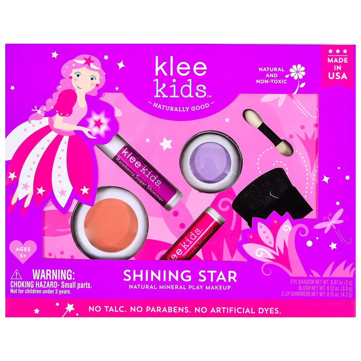 KLEE Naturals USA-SHINING STAR - KLEE KIDS NATURAL PRESSED POWDER MINERAL PLAY MAKEUP SET