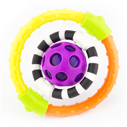 Sassy Baby USA-Spin & Chew Flexible Ring Rattle