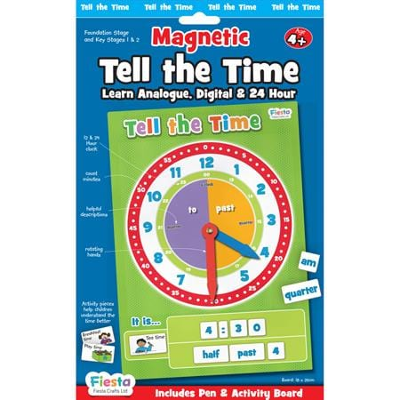 Fiesta Crafts UK- Tell The Time-Magnetic (英國Fiesta Crafts時鐘及時間學習玩具)