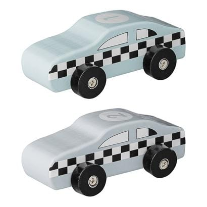 Bloomingville Denmark-Toy Car, Blue & Grey, MDF 丹麥品牌木製賽車仔幼兒玩具