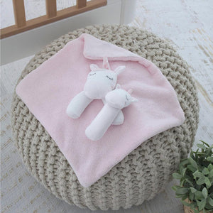 Bubba Blue Australia Unicorn Magic Security Blanket & Rattle Set (澳洲Bubba Blue 夢幻獨角獸系列-可愛特色安撫巾)