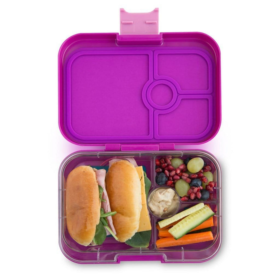 Yumbox Panino with Paris Tray Bijoux Purple 4-Compartment Lunch Box